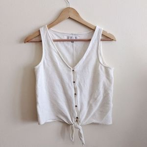 Like New Madewell Texture & Thread Tie Front Tank